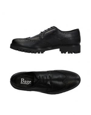 Обувь на шнурках BAGE. Цвет: черный