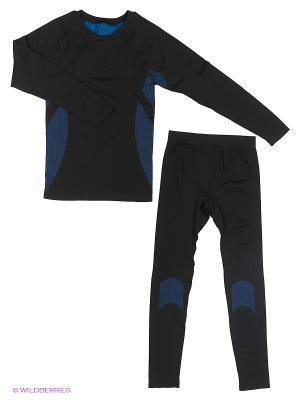 Комплект термобелья мужской, размер M BRADEX. Цвет: черный, синий