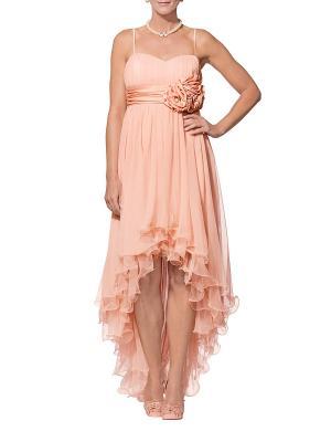Платье APART. Цвет: персиковый
