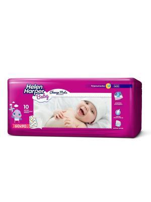 Helen HARPER Пеленки детские впитывающие 60х90 10 шт. Цвет: темно-фиолетовый