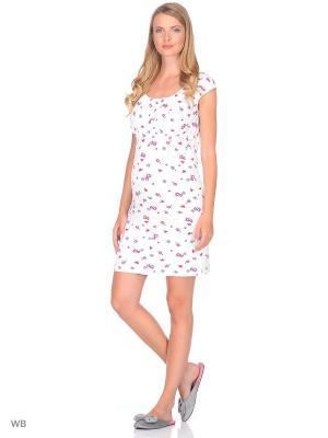 Ночная сорочка Nuova Vita. Цвет: малиновый