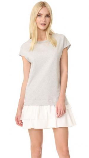 Платье с короткими рукавами Boutique Moschino. Цвет: серый фантазийный принт