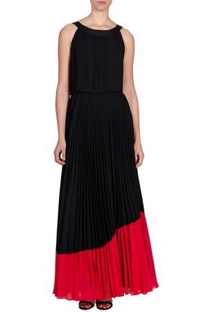 Плиссированное вечернее платье Karen Millen. Цвет: blamul