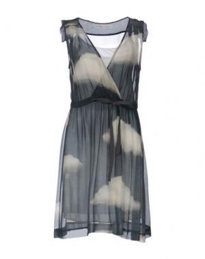 Платье до колена OTTOD'AME. Цвет: светло-серый