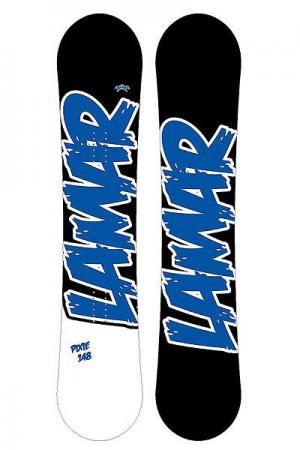 Сноуборд  Icu Mens Anti Cam Black 161 Lamar. Цвет: черный