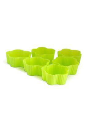 Набор силиконовых форм для кексов и маффинов, 6 шт DiMi. Цвет: зеленый