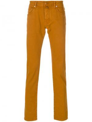 Брюки Comfort Jacob Cohen. Цвет: жёлтый и оранжевый