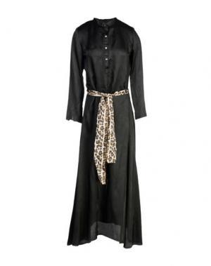 Длинное платье DANIELA PANCHERI. Цвет: черный