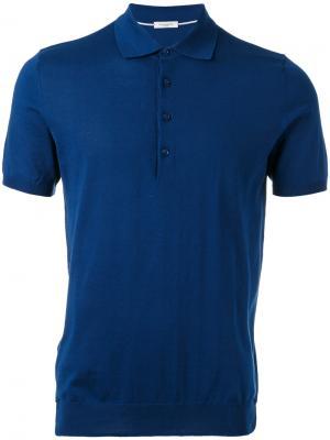 Рубашка-поло Paolo Pecora. Цвет: синий