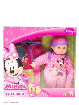 Пупс Minnie Mouse, 12/48 Simba. Цвет: розовый
