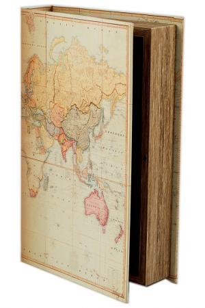 Шкатулка Карта 26х17х5см Русские подарки. Цвет: белый, розовый, желтый