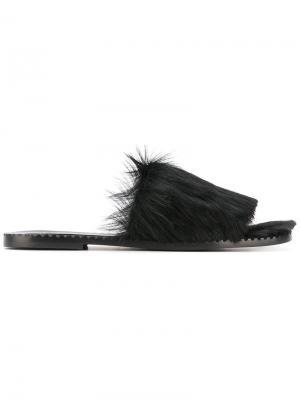 Сандалии с открытым носком Tomas Maier. Цвет: чёрный