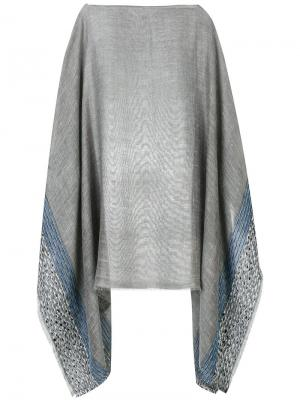 Patterned poncho Rag & Bone. Цвет: серый