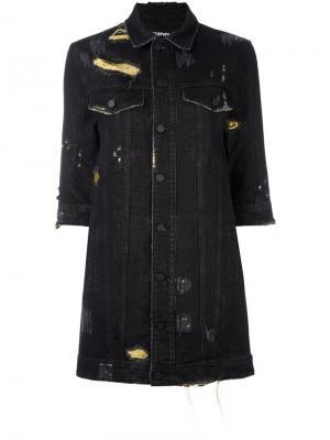 Джинсовое платье Eagle Filles A Papa. Цвет: чёрный