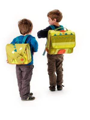 Рюкзак Lilliputiens. Цвет: желтый, оливковый, оранжевый
