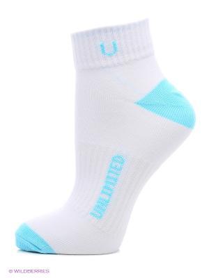 Носки спортивные 5 пар Unlimited. Цвет: морская волна, белый
