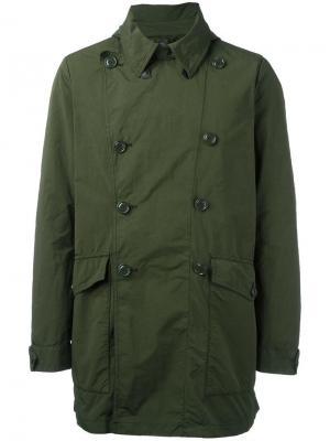 Пальто со съемной подкладкой Aspesi. Цвет: зелёный
