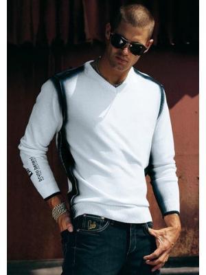 Пуловер Bruno Banani. Цвет: белый