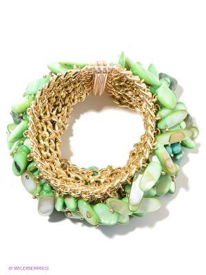 Браслет Bijoux Land. Цвет: зеленый, золотистый