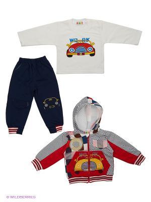 Комплект Kidly. Цвет: красный, белый, темно-синий