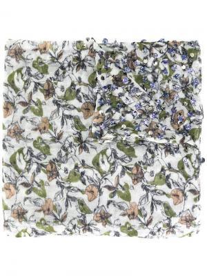 Декорированный шарф с цветочным принтом Essentiel Antwerp. Цвет: многоцветный