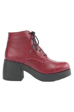 Ботинки Sandm. Цвет: красный