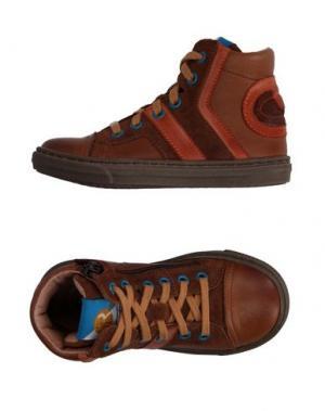 Высокие кеды и кроссовки FR by ROMAGNOLI. Цвет: коричневый