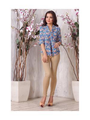 Блуза LIORA. Цвет: индиго