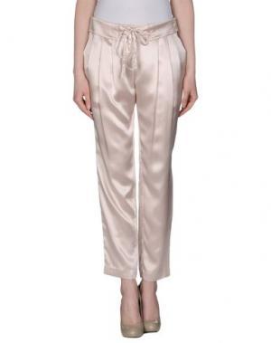 Повседневные брюки BEAYUKMUI. Цвет: светло-розовый