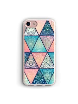 Чехол для iPhone 7/8 Геометрический принт Boom Case. Цвет: бирюзовый, розовый