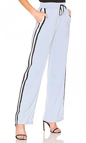 Спортивные штаны с широкими брючинами drawstring MAJORELLE. Цвет: нежно-голубой