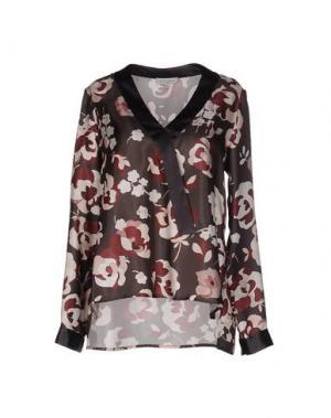 Блузка ANTONELLI. Цвет: свинцово-серый