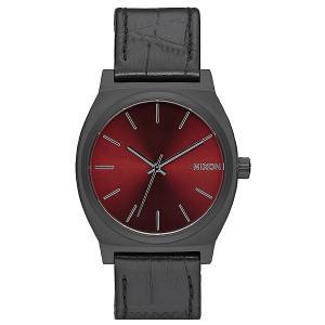 Кварцевые часы  Time Teller Black Gator Nixon. Цвет: черный,бордовый