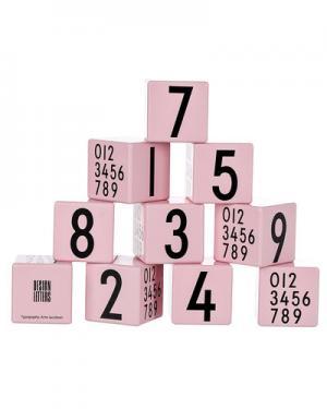 Деревянные кубики Design Letters. Цвет: розовый