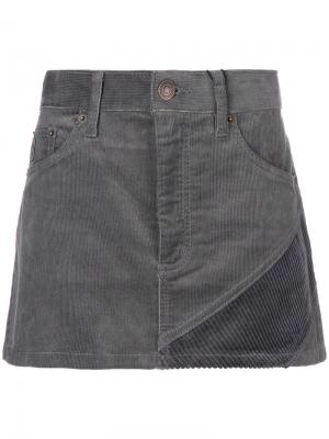 Короткая вельветовая юбка Marc Jacobs. Цвет: серый