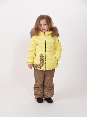Куртка+полукомбинезон TOPKLAER. Цвет: желтый