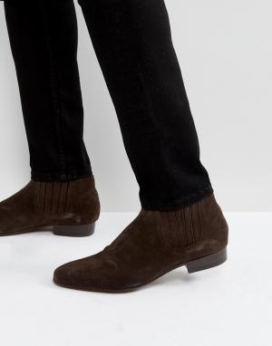 Hudson London Коричневые замшевые ботинки челси Zelus. Цвет: коричневый