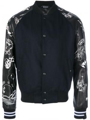 Куртка-бомбер с вышивкой Lanvin. Цвет: синий