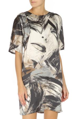 Платье Mees. Цвет: серый