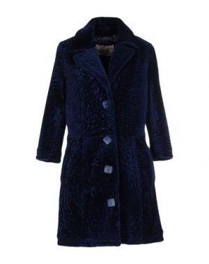 Пальто VINTAGE DE LUXE. Цвет: синий