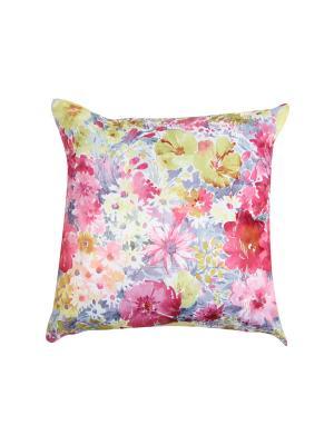 Подушка Волнующее предвкушение 45х45 T&I. Цвет: розовый, белый, зеленый