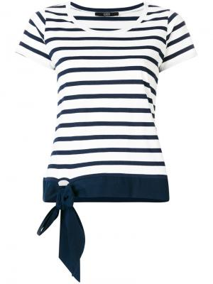 Striped T-shirt with bow detail Steffen Schraut. Цвет: синий