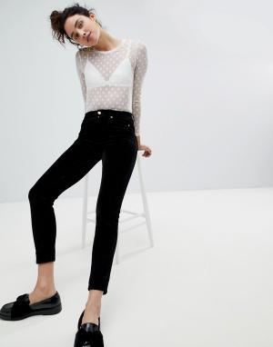 Monki Вельветовые брюки. Цвет: черный