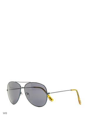 Солнцезащитные очки MANGO MAN. Цвет: синий
