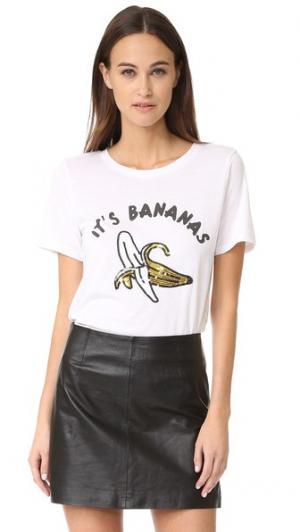 Футболка Its Bananas South Parade. Цвет: белый