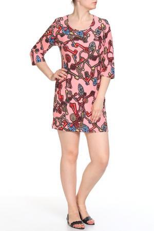 Платье домашнее LAVELLE. Цвет: абрикос