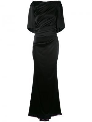Драпированное вечернее платье Talbot Runhof. Цвет: чёрный