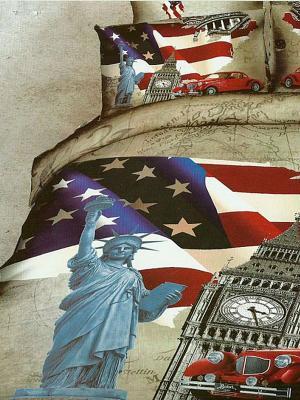 Комплект постельного белья, American Life, евро KAZANOV.A.. Цвет: бежевый