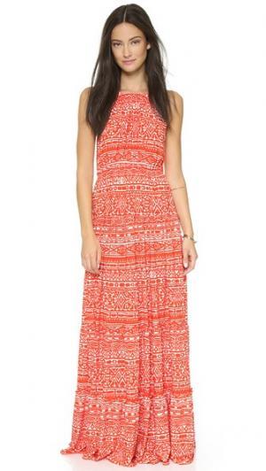Макси-платье Tbags Los Angeles. Цвет: оранжевый/белый