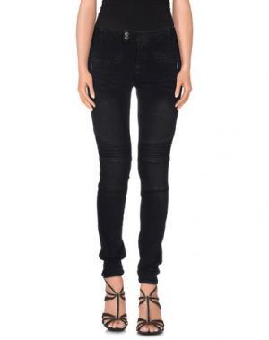 Джинсовые брюки LEGZ. Цвет: черный